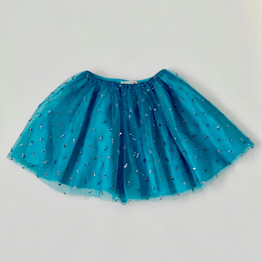 Bonpoint Turquoise Sparkle Tulle Skirt: 8 Years