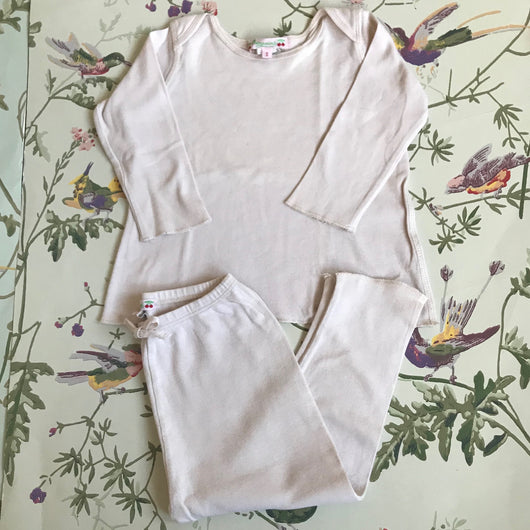 Bonpoint Pale Pink Cotton Top And Leggings Set: 6 & 12 Months