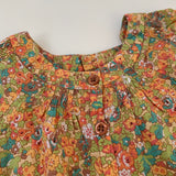 Bonpoint Orange Tone Liberty Print Blouse: 6 Months