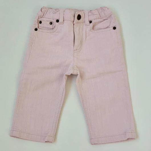Bonpoint Pale Pink Jeans: 6 Months