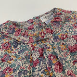 Cyrillus Liberty Print Blouse With Frill Collar: 9 Months