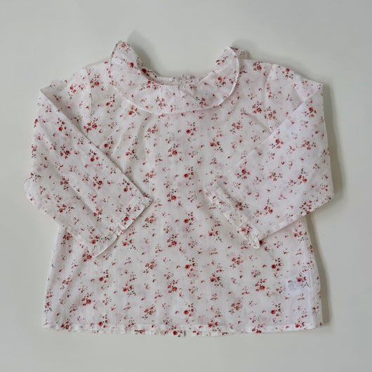 Bonpoint Floral Blouse With Collar: 12 Months