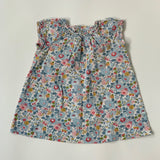 Bonpoint Blue Besty Liberty Print Cotton Dress: 12 Months