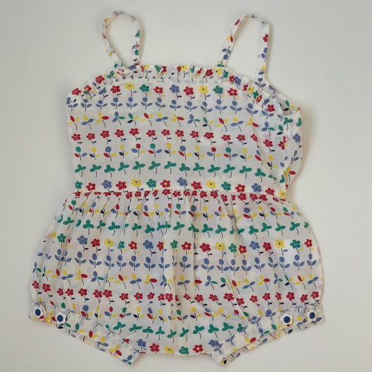 Stella McCartney Cotton Romper With Bow: 12 Months