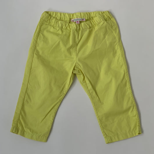 Bonpoint Chartreuse Cotton Trousers: 18 Months