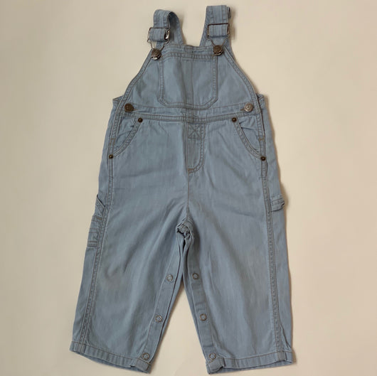 Bonpoint Light Denim Dungarees: 18 Months