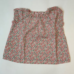 Bonpoint Pink Liberty Print Puff Sleeve Blouse: 2 Years