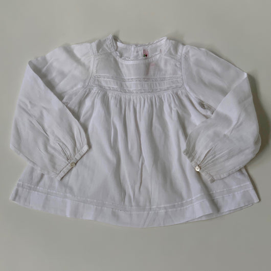 Bonpoint White Lace Trim Blouse: 2 Years