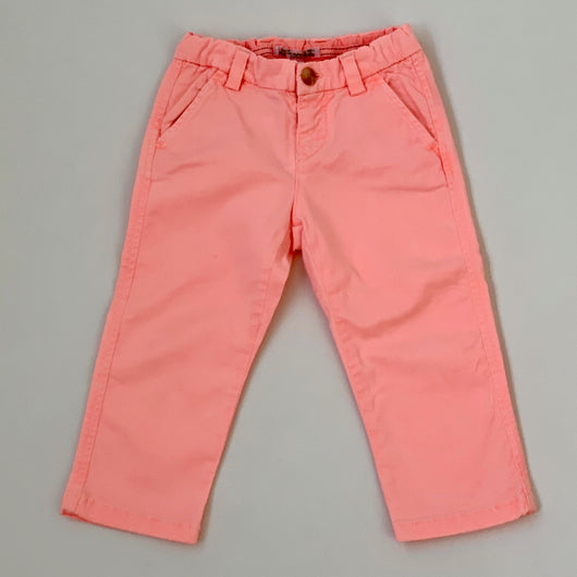 Bonpoint Neon Orange Cotton Trousers : 2 Years