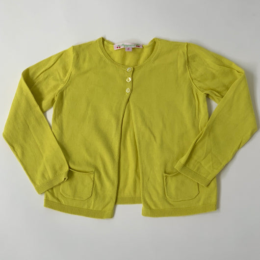 Bonpoint Chartreuse Cotton Cardigan: 2 Years