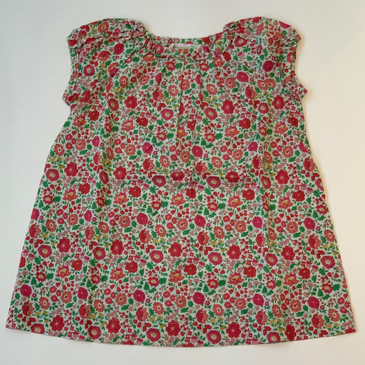 Bonpoint Raspberry Toned Liberty Print Cotton Dress: 2 Years