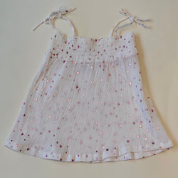 Zeff White Gauzy Star Print Top: 2 Years