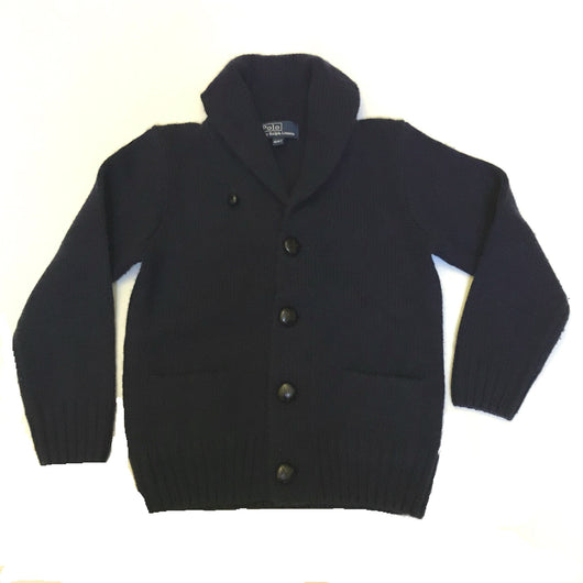 Ralph Lauren Navy Cashmere Mix Shawl Collar Cardigan
