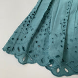 Bonpoint Teal Broderie Anglaise Dress: 3 Years