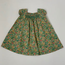 Bonpoint Green Betsy Liberty Print Dress: 2 Years