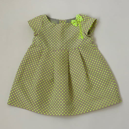 Bonpoint Lime Green Polka Dot Dress: 3 Years