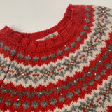Bonpoint Red FairIsle Merino Wool Jumper: 8 Years