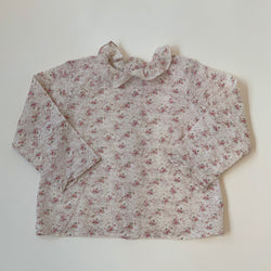 Bonpoint Floral Print Blouse With Collar: 2 Years