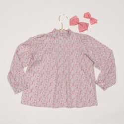 Bonpoint Liberty Print Blouse With High Frilled Neckline