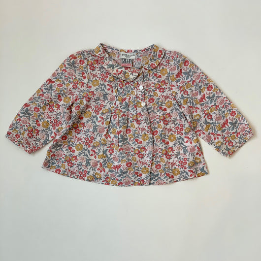 Cyrillus Liberty Print Blouse With Collar: 12 Months