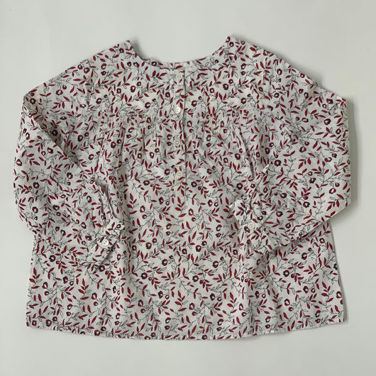 Bonpoint Leaf Print Cotton Blouse: 3 Years
