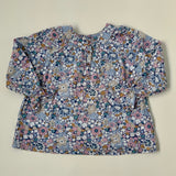 Bonpoint Pale Blue Liberty Print  Blouse: 3 Years