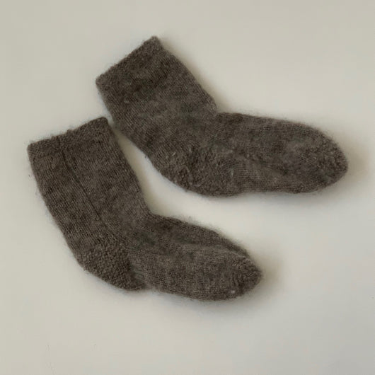 Bonpoint Grey Cashmere Socks: Newborn