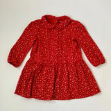 Ralph Lauren Red And White Jersey Dress With Matching Knickers: 12 Months