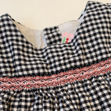 Bonpoint Black And White Check Dress With Smocking: 2 Years