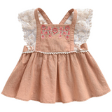 Louise Misha Apricot Cotton Blouse With Embroidery: 2 Years