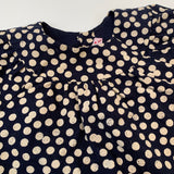 Bonpoint Navy And Taupe Polka Dot Dress: 18 Months (Brand New)