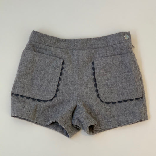 Jacadi Grey Wool Mix Shorts With Scallop Detail: 2 Years