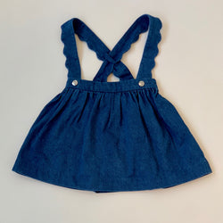Jacadi Denim Skirt With Crossover Straps: 24 Months