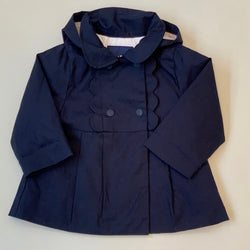 Jacadi Navy Coat With Scallop Detailing: 18 Months