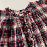 Jacadi Maroon And Navy Tartan Dress: 3 Years