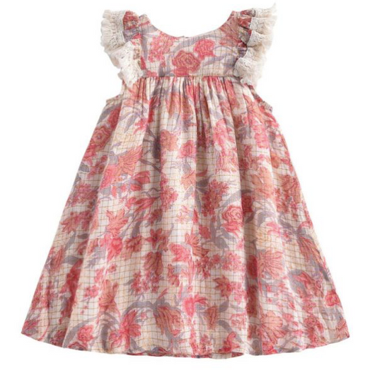 Louise Misha Floral Dress With Gold Thread: 2 Years