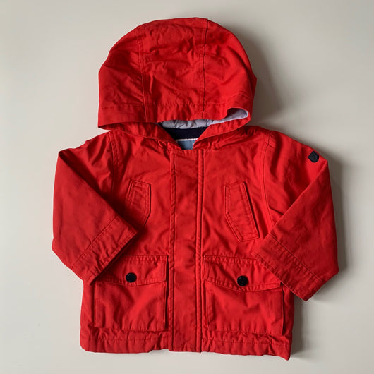 Jacadi Red Waterproof Coat: 18 Months