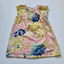 Bonpoint Pink Floral Print Short Sleeve Dress: 2 Years