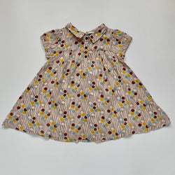 Caramel Polka Dot Dress: 12 Months (Brand New)