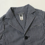 Bonpoint Navy And White Stripe Cotton Blazer: 4 Years