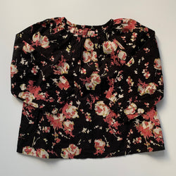 Bonpoint Black Floral Blouse: 2 years (Brand New)
