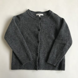 Caramel Grey 100% Merino Wool Cardigan