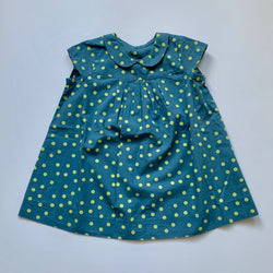 Bonpoint Blue And Lime Green Polka Dot Dress: 12 Months (Brand New)