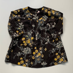 Bonpoint Black And Yellow Floral Print Dress: 12 Months (Brand New)