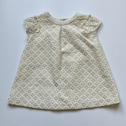 Bonpoint White And Gold Broderie Anglaise Dress: 12 Months (Brand New)