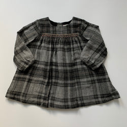 Bonpoint Grey And Copper Tartan Wool Mix Dress: 12 Months (Brand New)