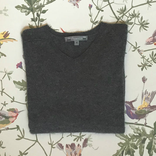 Bonpoint Dark Grey Cashmere Jumper