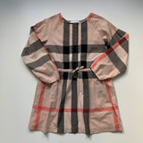 Burberry Pink Heritage Check Dress With Pintuck Detailing: 10 Years