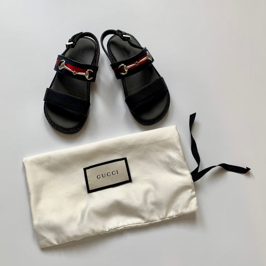 Gucci Kids Strap Sandals with snaffle: secondhand preloved used preowned