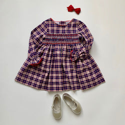 La Coqueta Blue And Red Tartan Dress: 2 Years (Brand New)